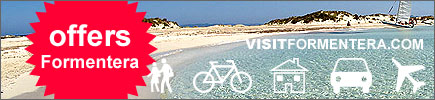 Offers online reservations Formentera island, lodging, apartments, moto rent, rent a car.